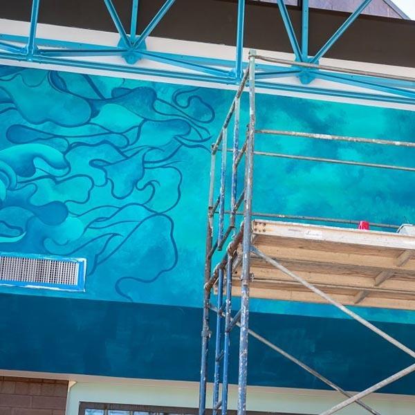 Bayside Rec Center Mural Process