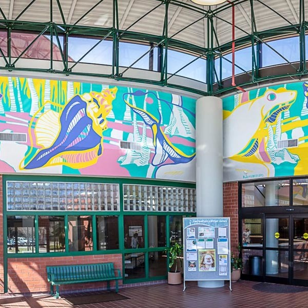 Princess Anne Rec Center Mural Complete